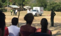 Levantamiento del cuerpo del hombre linchado en Luruaco