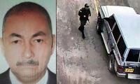 José Aldemar Rojas Rodríguez y el carro bomba ingresando a la Escuela de Policía.