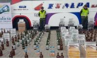 Decomisaron  4 mil cajetillas de cigarrillos, 338 litros de whisky, 5.500 unidades de químicos y 96 unidades de confecciones.