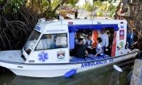 Esta es la ambulancia acuática que transportará pacientes desde los pueblos palafitos.