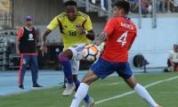 Colombia - Chile en el Sudamericano sub 20.