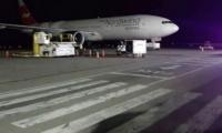 Avión ruso que arribó a Venezuela.