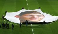 Pancarta con el rostro de Emiliano Sala