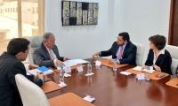 Reunión entre el Alcalde de Santa Marta, el Secretario de Seguridad y el Ministro de Defensa.