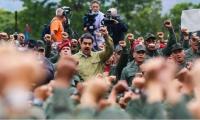 Maduro en base militar venezolana