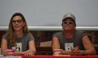 Carlos Vives y su esposa este martes en Santa Marta.