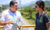 La campaña inició en el puente peatonal que está ubicado en la Troncal del Caribe.
