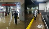 Inundación del aeropuerto de Valledupar.