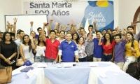 Lideres de la ciudad de Santa Marta.