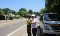 Desde el pasado fin de semana el Tránsito Departamental se encuentra realizando controles en las vías del departamento.