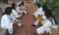 Indígenas kogui en el Parque de Bolívar