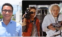 Como si fuera un personaje de Volver al Futuro, Caicedo habla de delitos que no han sucedido.