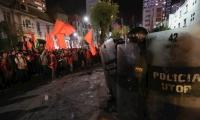Protestas en Bolivia.