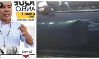 Enrique Sanjuanelo es candidato a edil en Santa Marta y fue quien atacó el carro a patadas.