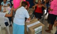 Los Magdalenenses acudieron a votar.