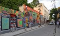 Pintan mural en la calle 18 de Santa Marta