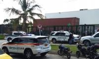 Lugar donde ocurrió el robo en Home Center.