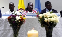 Integrantes del comité de las víctimas de la masacre de Bojayá.