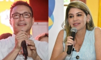 Carlos Caicedo, gobernador electo del Magdalena, y Virna Johnson, alcaldesa electa de Santa Marta