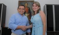 Virna Johnson y Rafael Martínez
