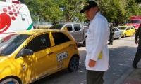 Atentado a bala contra taxista.
