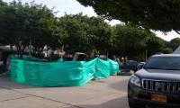 Construcción de pozo en el barrio Libertador.