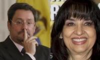 Francisco Santos y Claudia Blum.