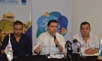 Este jueves se llevó a cabo la presentación oficial del open internacional de tenis.