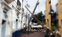 Los trabajos del nuevo circuito afectan a residentes y comerciantes del centro.