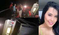 La cantante Ana Del Castillo sufrió un accidente de tránsito este domingo.