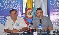El alcalde junto al director del Inred dieron a conocer que Santa Marta también aspira organizar unos Panamericanos de Playa.