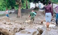 Desbordamiento en Chaparral del río Amoya