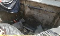 Hundimiento de placa de pavimento en Villas de Alejandría
