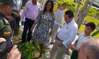 La Ministra visitó el pasado miércoles a Aracataca.