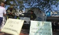 Protesta de exempleados de la ESE Alejandro Próspero Reverend.
