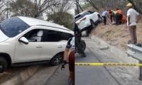 Vehículo donde se transportaba la víctima y los heridos.