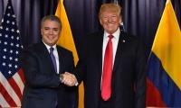 Presidente Duque saluda a su homólogo Donald Trump.