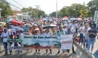De diferentes municipios del departamento de sumaron los docentes a la marcha