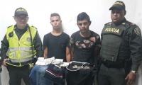 Presuntos ladrones de droguería.