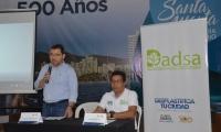 El alcalde Rafael Martínez y el director del Dadsa, Wilson Rodríguez.