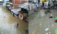 Las inundaciones afectaron los barrios y el sector comercial de seis municipios.