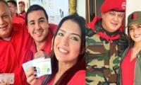 Diosdado Cabello y sus hijos Tito y Daniella