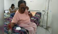Dilia Patiño, anciana golpeada.