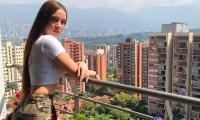 Bella modelo rumana estuvo en Medellín grabando video de reggaetón