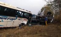 Así quedaron los vehículos involucrados en el accidente, en el punto conocido como El Minuto, cerca de Aguachica.