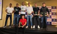 El goleador samario (centro-rojo) marcó 20 goles en 26 partidos en la pasada campaña.