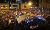 Apoyo a la JEP en la Plaza de Bolívar.