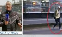 Patrullero RCN fue atemorizado con arma blanca por colado de Transmilenio