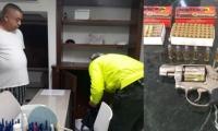 Hombre que amenazó a cuadrilla de electricaribe es allanado y posteriormente le es incautada su arma