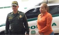 Comandante de la Policía del Magdalena y la Secretaria del Interior.